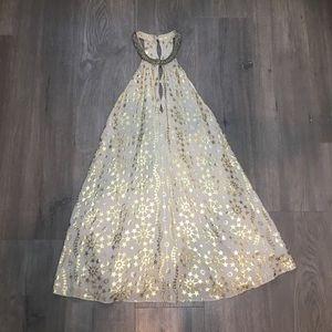 Urban Outfitters Kimchi Blue Gold Star Print Dress